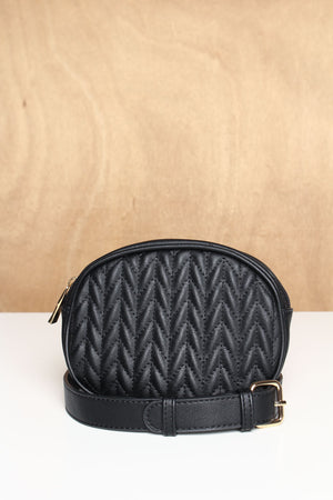 Hands Off Quilted Belt Bag - Black
