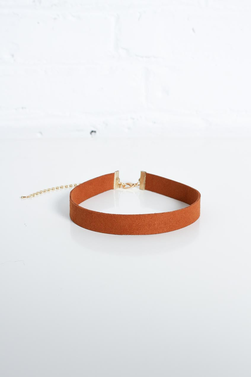 With The Band Suede Choker - Camel