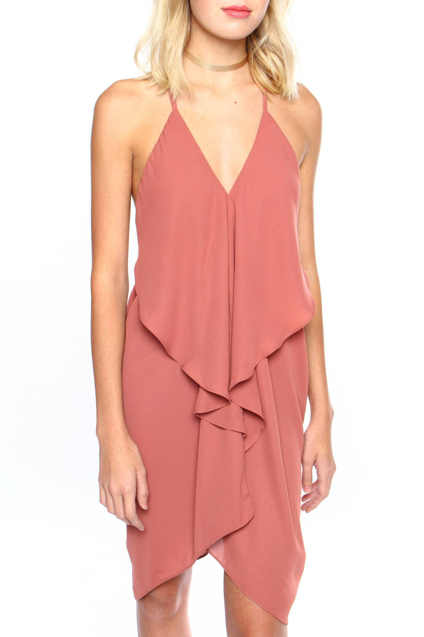 Take The Plunge Dress - Clay