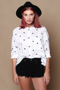 Star Print Buttondown