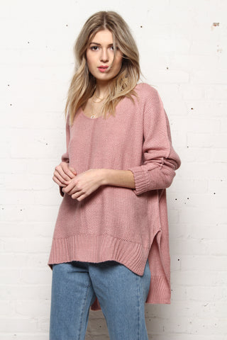 Slouchy Oversize Sweater - Mauve