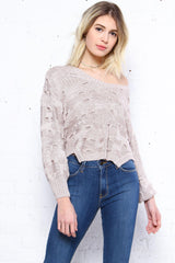 Somedays Lovin' Arrow Knit Cropped Sweater