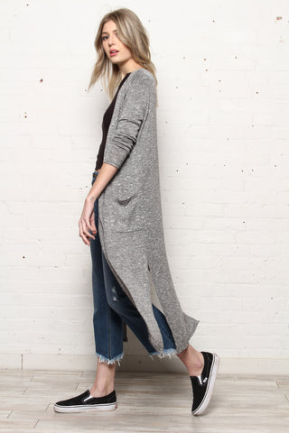 All About It Maxi Long Line Cardigan