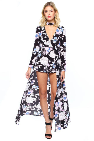 Full Bloom Robe Romper