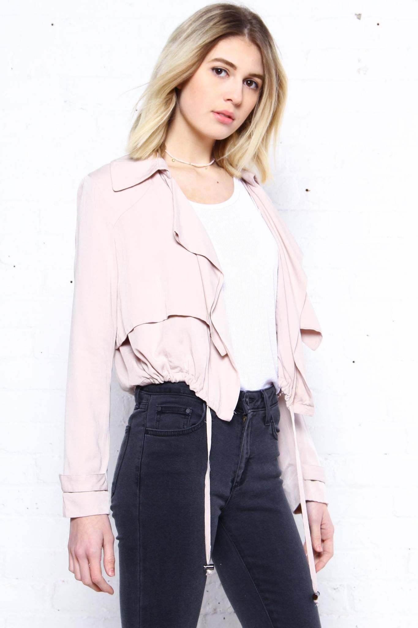 BB Dakota Herring Draped Blazer