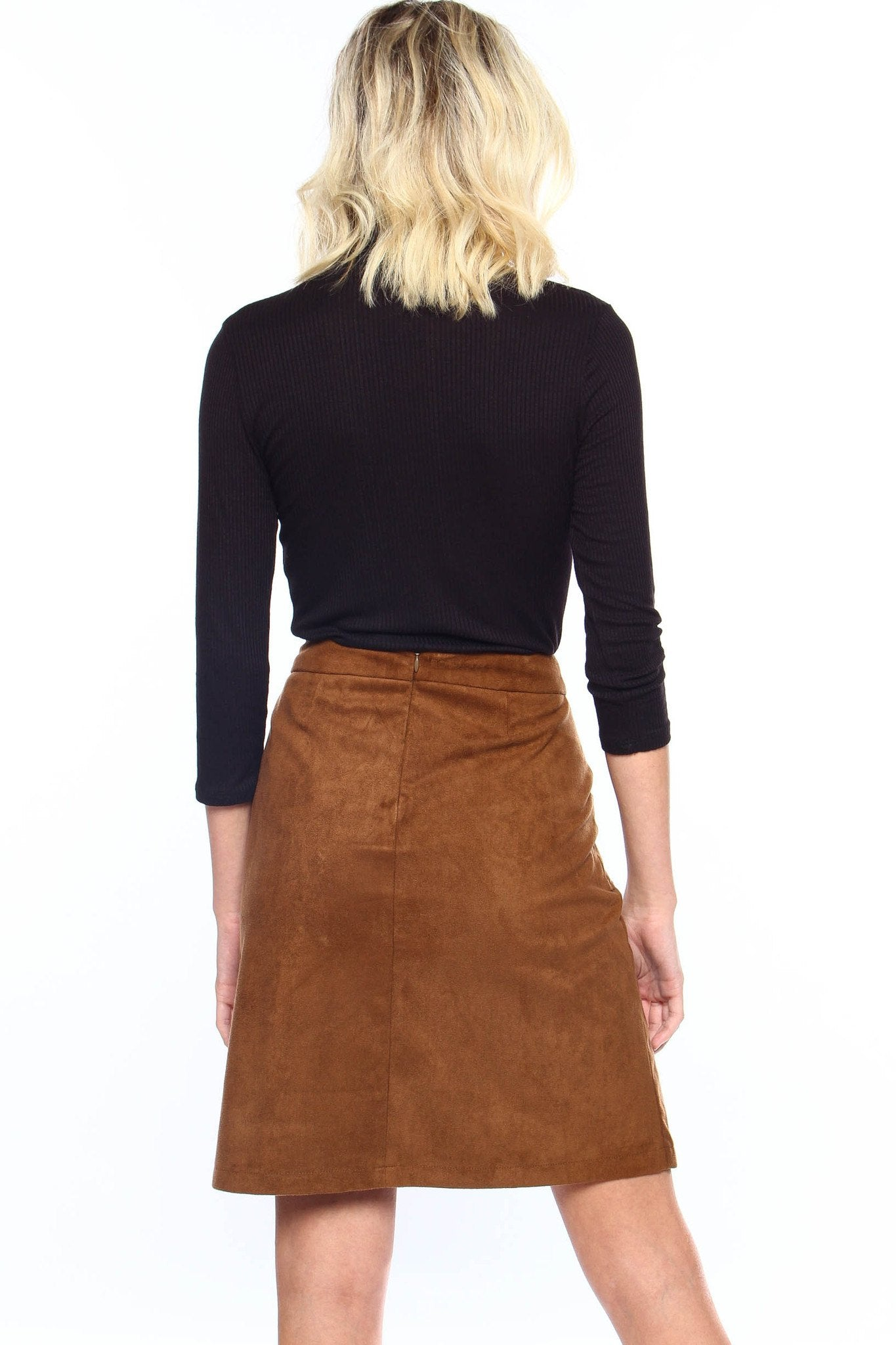 BB Dakota Belfort Suede Skirt