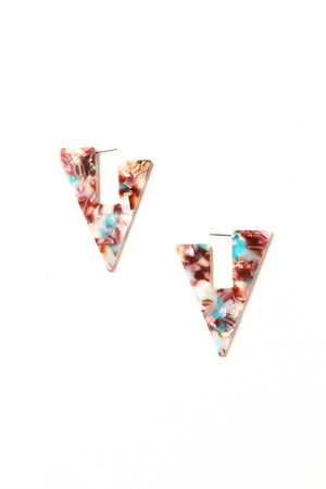 Acrylic Triangle Statement Earrings