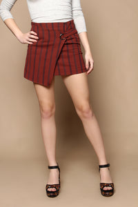 Marni Striped Highwaist Mini Skirt - Brick
