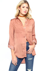 MINKPINK Introduction Military Shirt