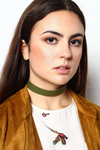 Now Or Never Choker - Olive