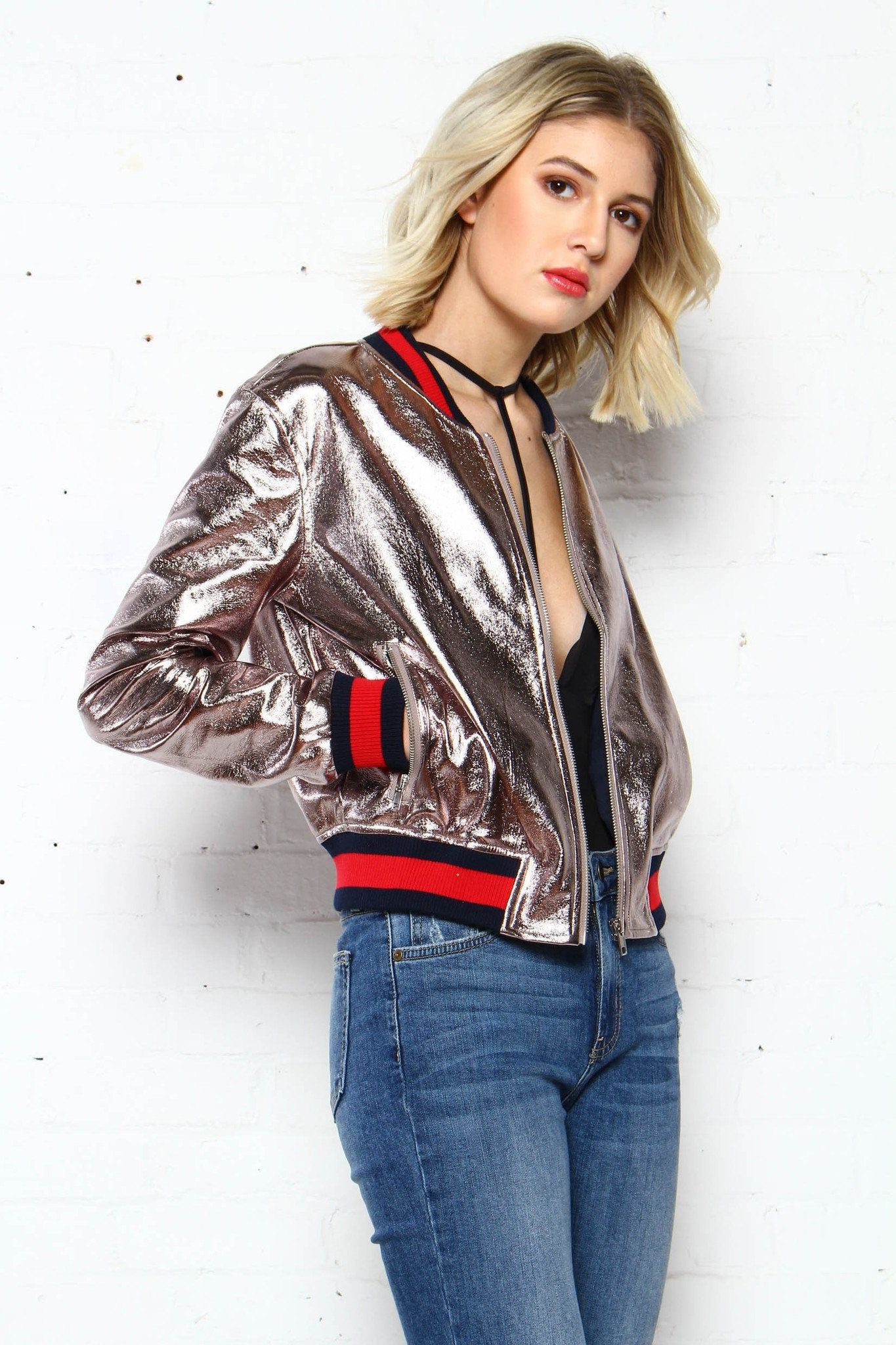 Light It Up Metallic Bomber