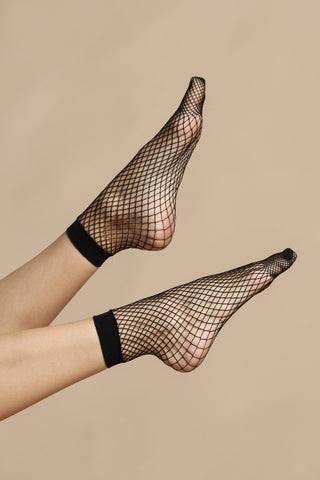 Go Go Fishnet Anklet - Black