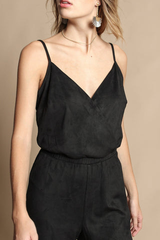 BB Dakota Gertrude Faux Suede Jumpsuit