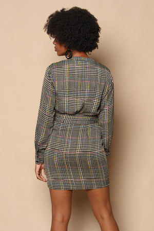 Astr The Label Yuri Houndstooth Dress