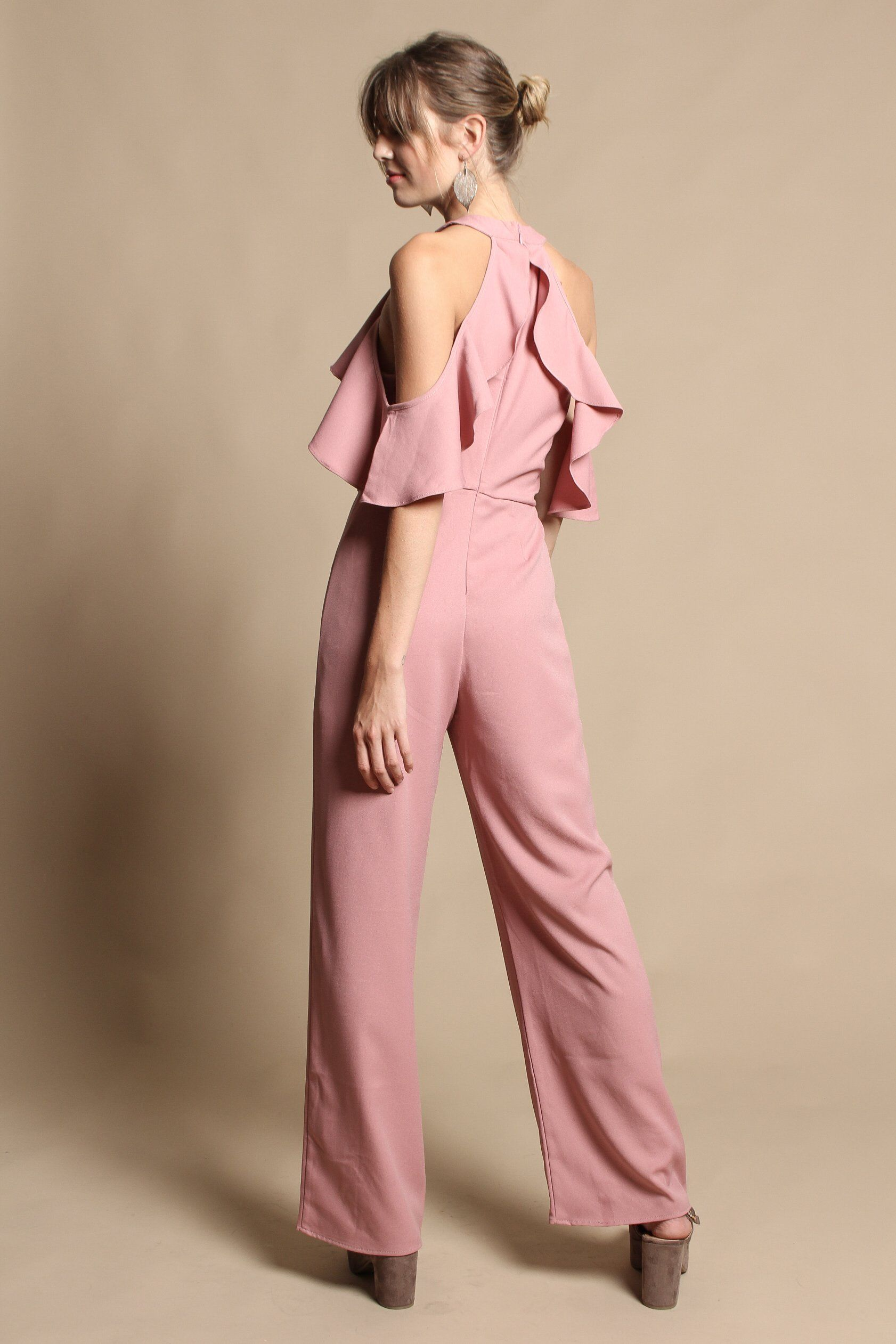 Rego Ruffled Sleeve Jumpsuit