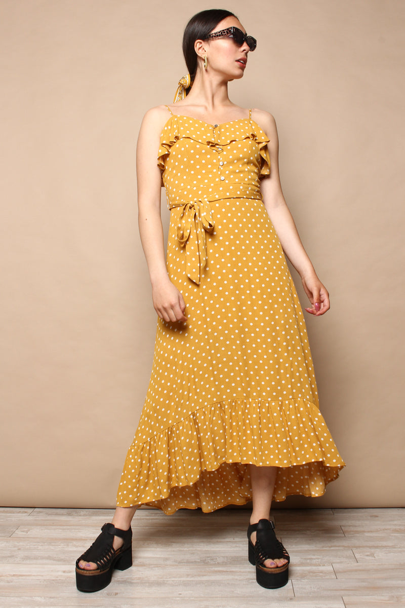 Dot To Dot Ruffle Sundress