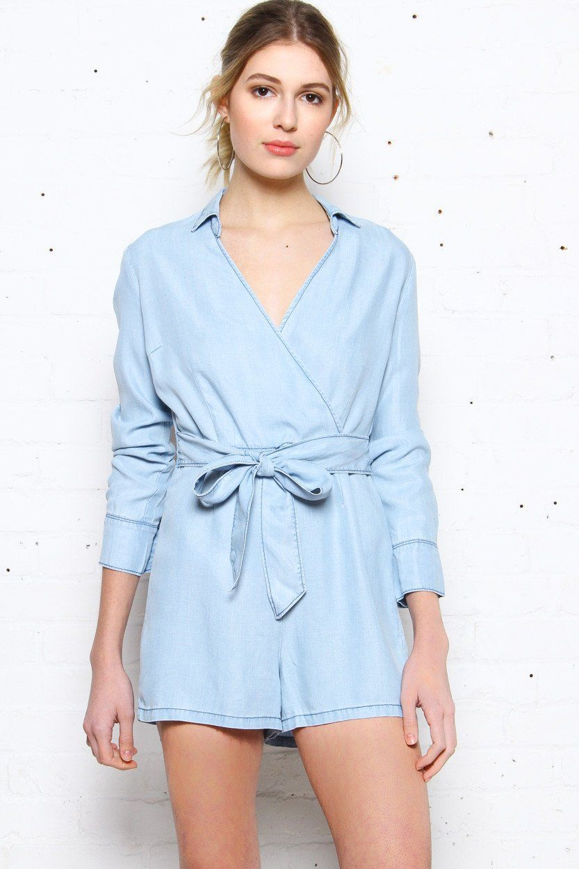 BB Dakota Carlisle Chambray Romper