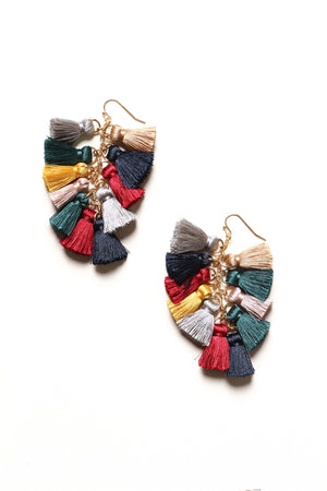 In The Mix Tassel Earrings