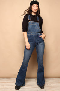 Free People Carly Flare Overalls
