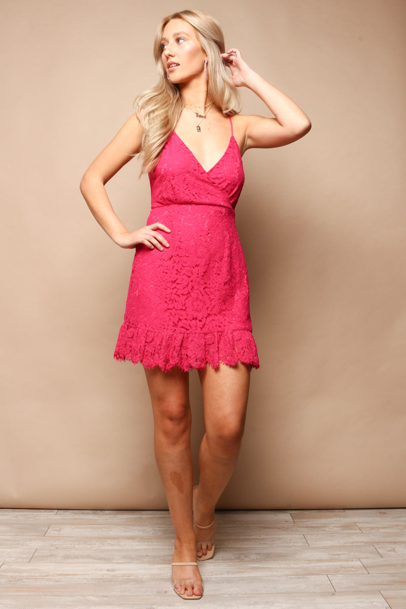 Party Time Lace Mini Dress