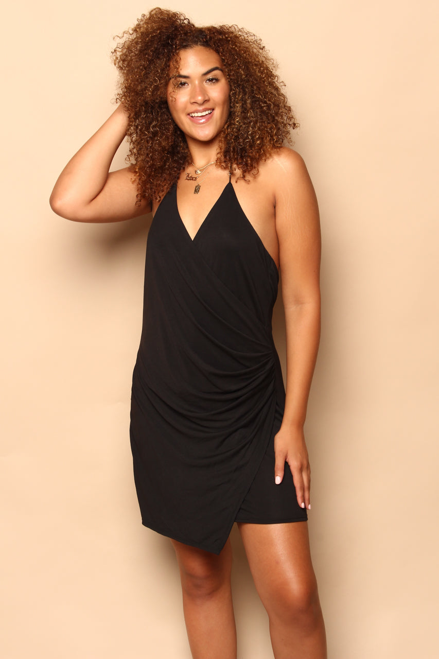 Drape Away Halter Mini