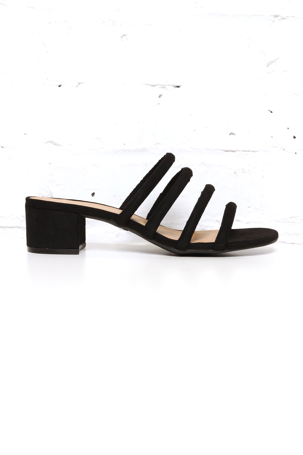Steph Strappy Block Heel Mules