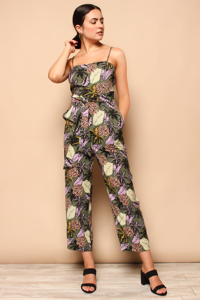Stay Palm Printed Jumpsuit