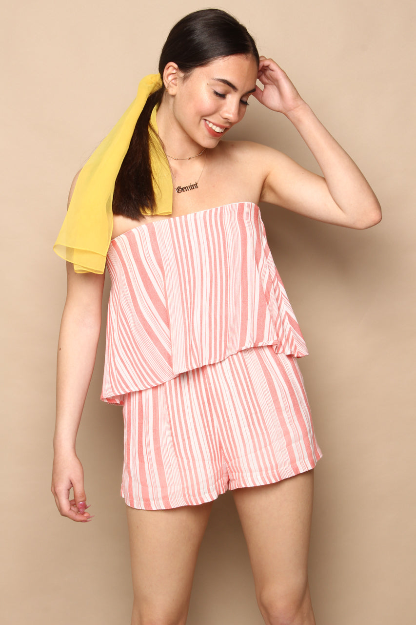 MINKPINK Ocean Side Stripe Playsuit