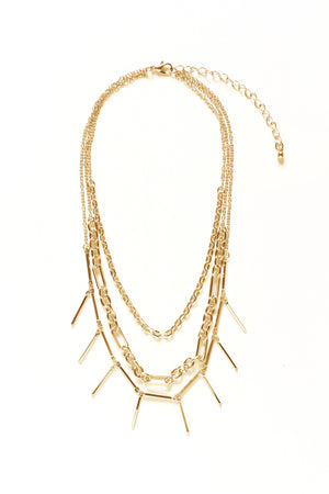 Layer Bar & Chain Necklace