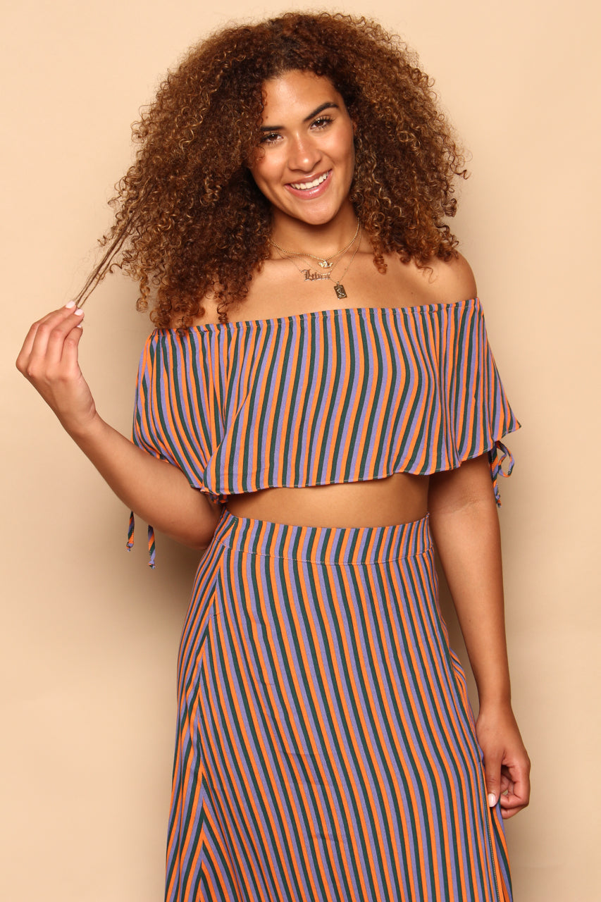 Line Up Ruffle Crop Top