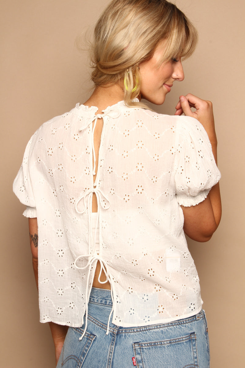 Free People Letters To Juliet Eyelet Top