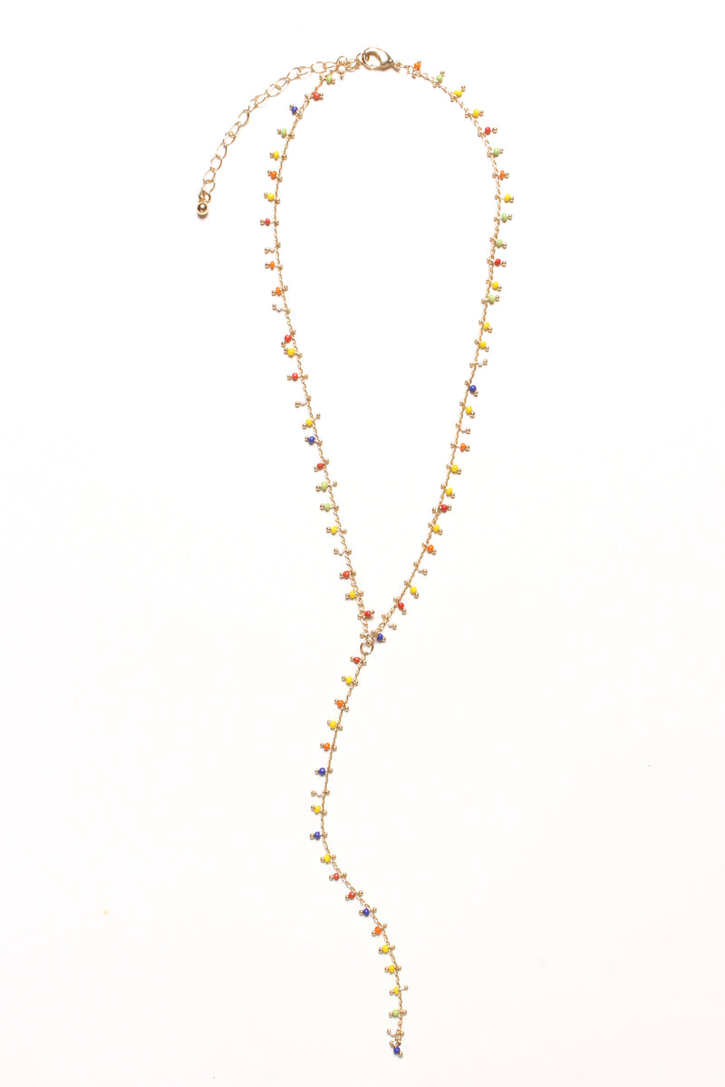 Multi Bead Y Necklace