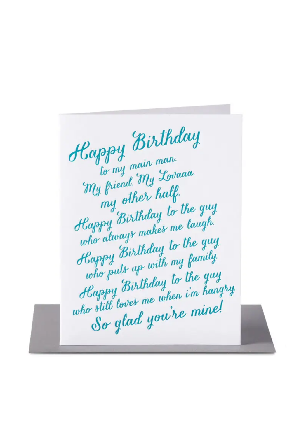 Paper Epiphanies Lover Rant Birthday Card