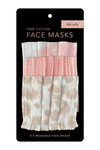 Kitsch Three-Piece Cotton Face Mask Set