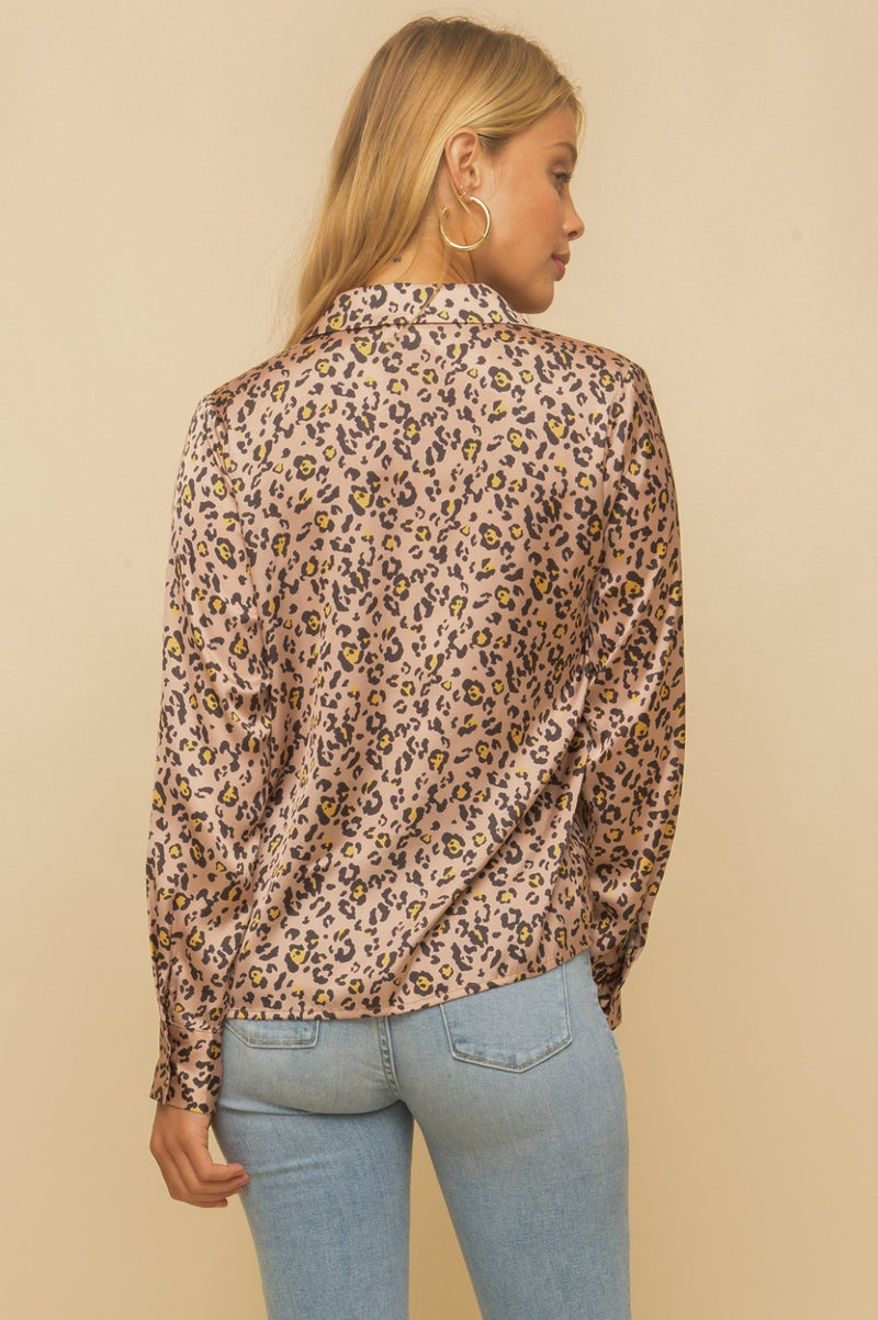 Lala Leopard Buttondown