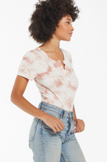 Z Supply Lynn Tie Dye Slub Bodysuit