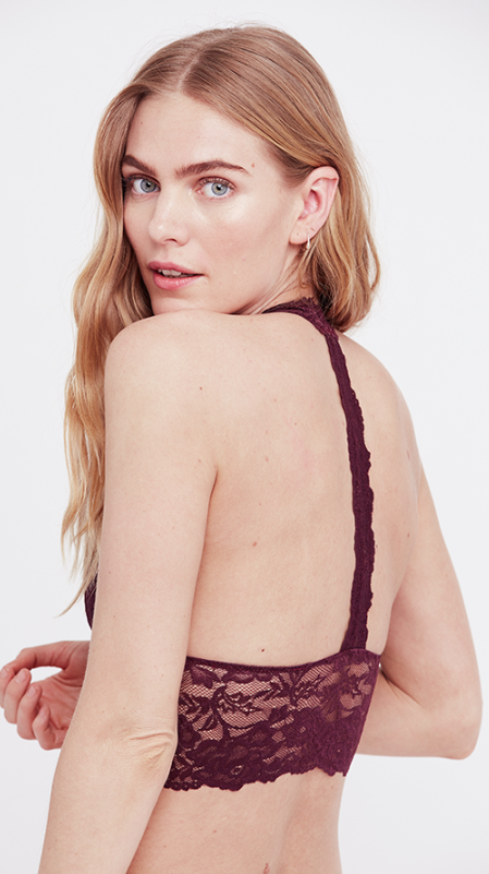 Free People Heartbreaker Lace Bralette - Purple