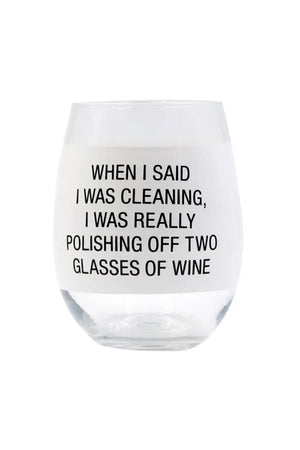 IN-STORE PICKUP ONLY!<br>About Face Polishing Off Wine Glass