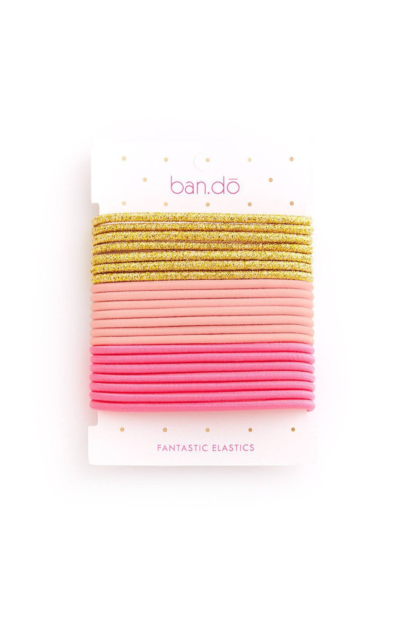 Ban.do Fantastic Elastics - Blush/Gold/Neon Pink