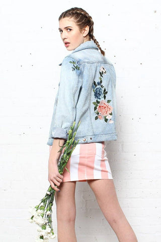 Field Day Floral Denim Jacket