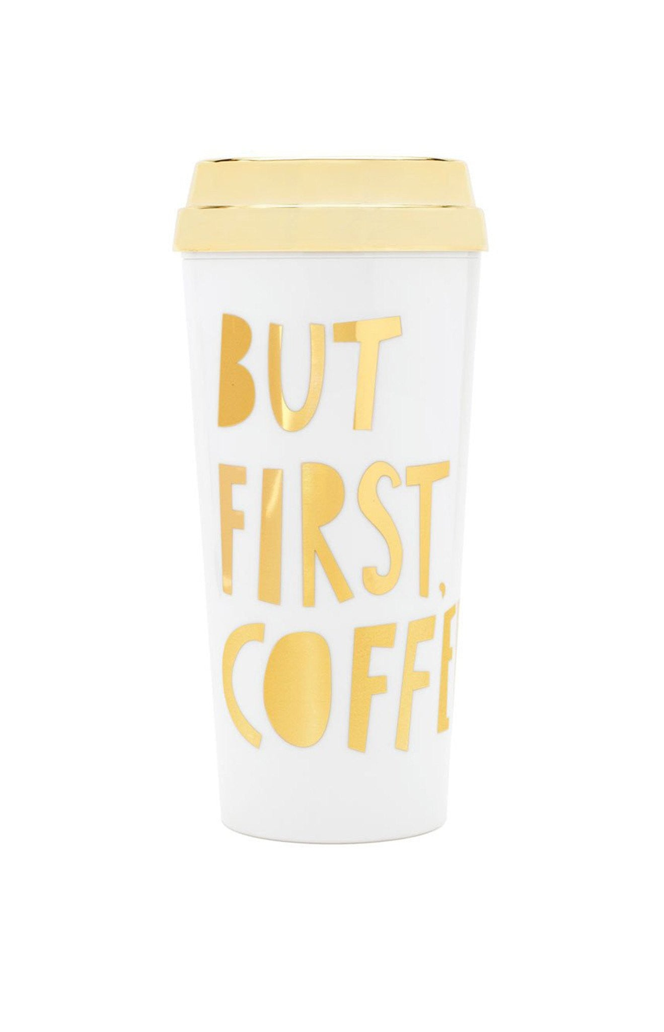 Ban.do Deluxe Hot Stuff Travel Mug - But First Coffee