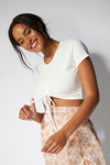 MINKPINK Emery Ruched Tee