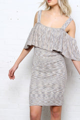 MINKPINK White Noise Ribbed Dress