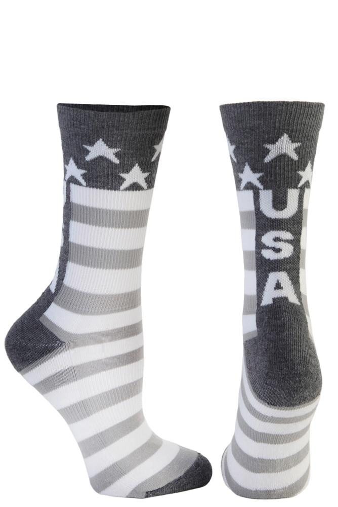 USA Grey Crew Socks- The Sox Box