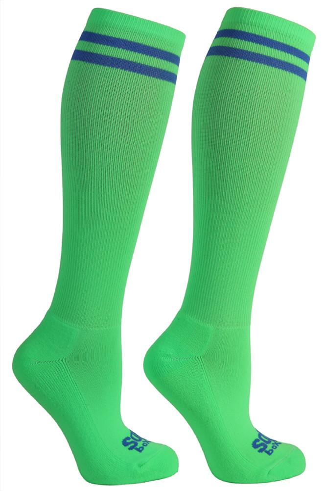 Bright Neon Green Kneehigh