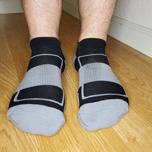 Performance Footie Sox - Gray