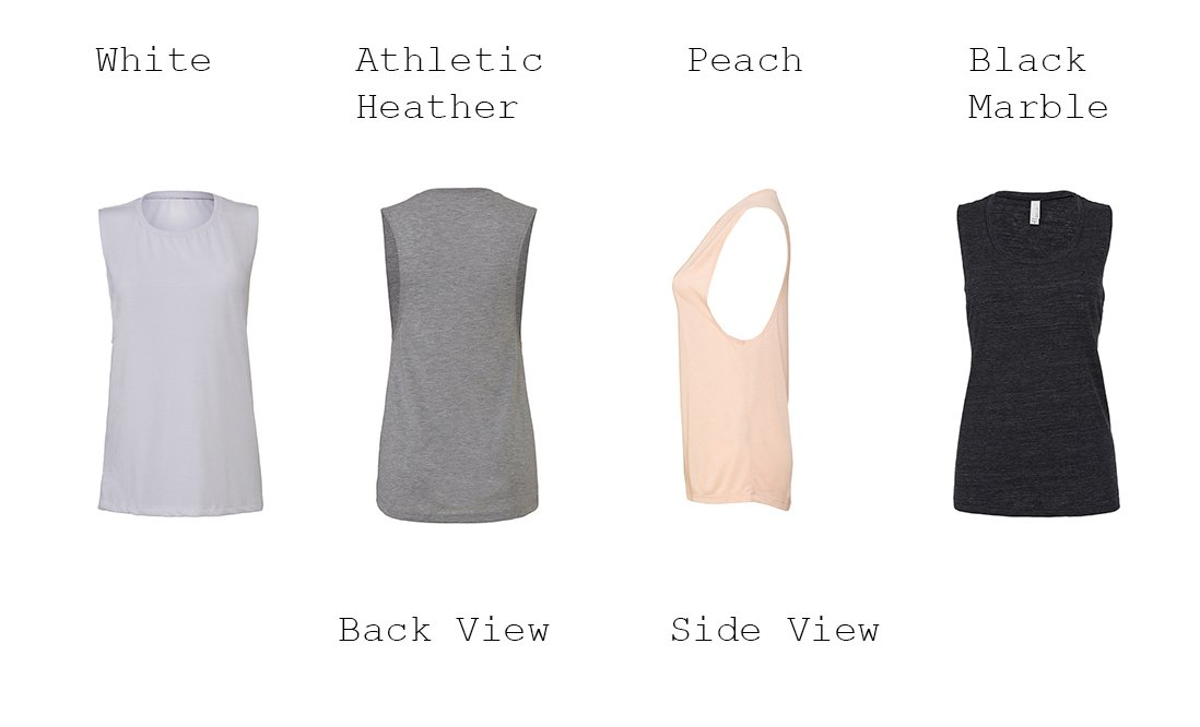 Thick Chick Flowy Scoop Muscle Tank - The Sox Box