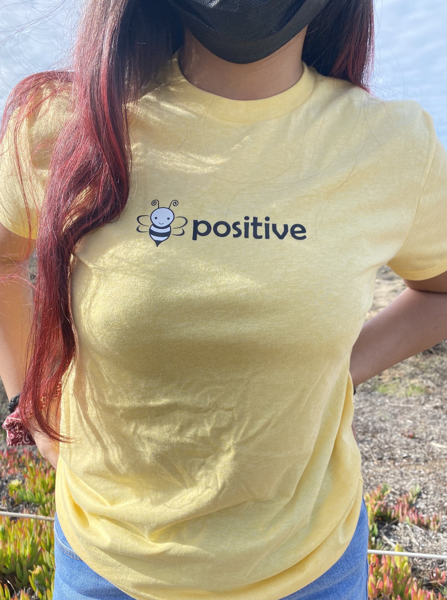 Bee Positive Inspirational T-Shirt- The Sox Box