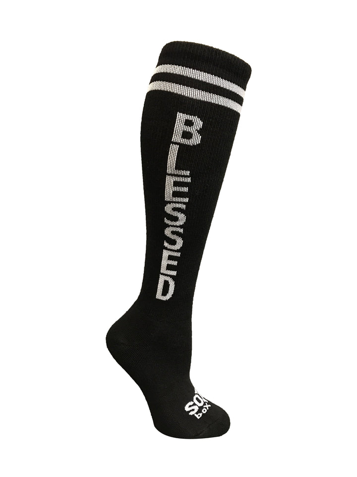 Blessed Black Knee High Athletic Socks- The Sox Box