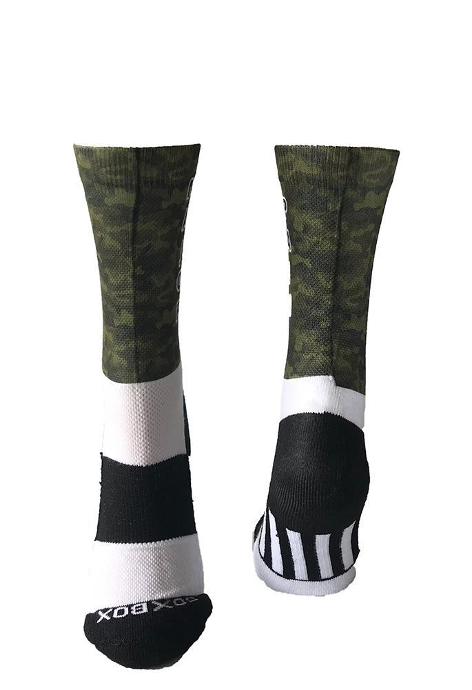 Novelty Custom Green Camo Socks - The Sox Box